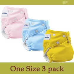 FuzziBunz Elite One Size Diaper Sample Package - 3 Pack