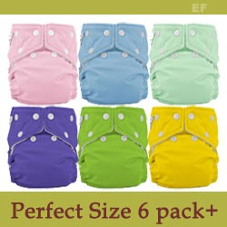 FuzziBunz Perfect Size Diaper Part/Full Time Package - Old Colors!
