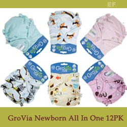 GroVia Newborn All in One Cloth Diaper  - 12 Pack